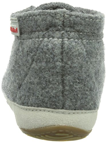 Living Kitzbühel Canvas mit Streifen - Zapatillas de casa de lana infantil gris - Grau (grau 610)