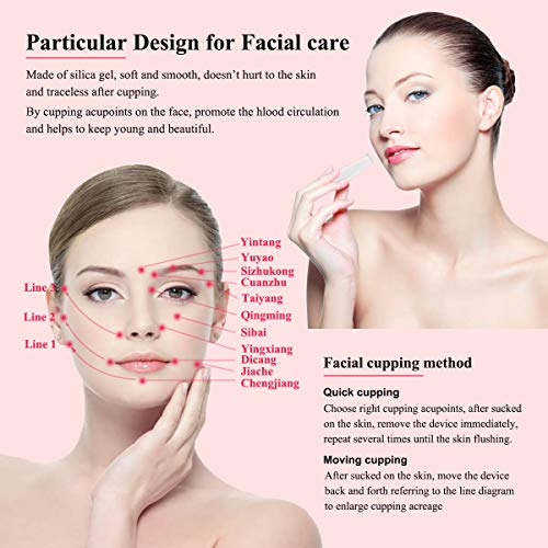 Facial Cupping Therapy Set,Eye Face Vacuum Massage Cup Kit