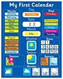 Magnetic My First Learning Calendar - Blue Rigid board 16'' x 13'' (40 x 32cm) with hanging loop (Designed in the UK & Top seller on Amazon UK)