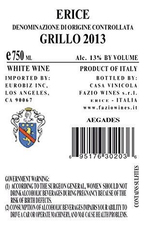 2013 Fazio Aegades Grillo Sicily Wine 750 mL