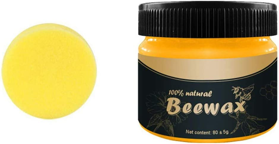 Natural Beewax, Wakaka Wood Seasoning Beewax Polish for Wood & Furniture,Metal & Leather,Complete Solution Furniture Care Home Cleaning,Protect and Enhance The Shine