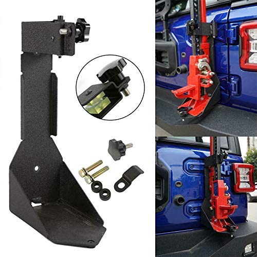 HEQIANG High Lift Jack Mount Rear Hi Lift Jack Mount Carrier Tailgate Mounting Bracket for Offroad Jeep Wrangler JL 2018 2019
