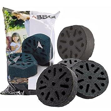 4 piezas barbacoa de carbón briquetas ladrillos larga duración barbacoa Grill piedra Starter Accessory