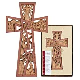 Pierced Stages of Christ Easter 11 Inch Resin Stone Wall Cross