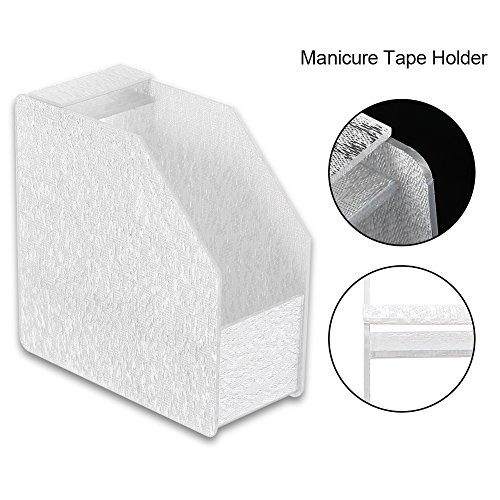 Manicure tape dispenser, Nail Tape Holder Storage Box Acrylic Organizer Case Nail Art Tools (Silver) by ZJchao (Image #1)