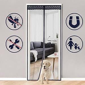 Rabbitgoo mosquitera para puerta malla magn tica cortina for Mosquitera magnetica puerta