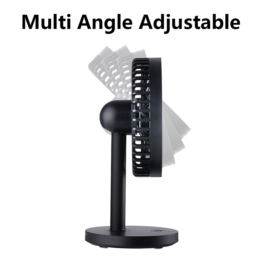 OURRY Desk Fan, Small Mini USB Table Desk Desktop Personal Fan, Quite Operation, 3 Speeds, High Compatibility, Cooling for Home, Office (Black) by OURRY (Image #6)
