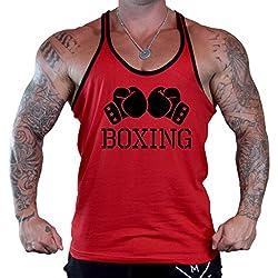 Men's Boxing Gloves V434 Tee Red Stringer Tank Top X-Large Red