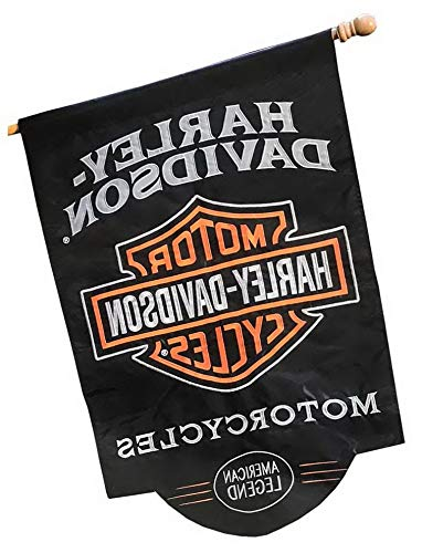 Werrox Harley-Davidson American Legend Sculpted Applique House Flag, 28 x 44 in 154900 | Model FLG - 726 | 28