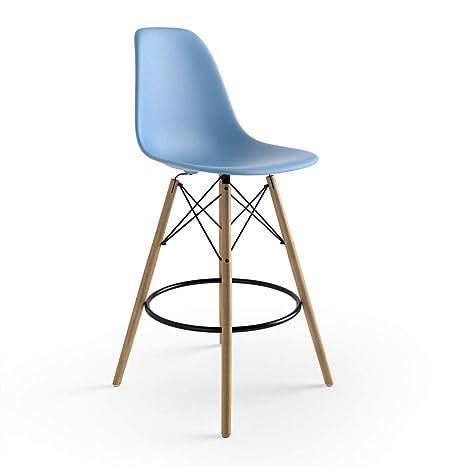 Peachy Amazon Com Molded Plastic Counter Stool With Wood Legs Set Machost Co Dining Chair Design Ideas Machostcouk