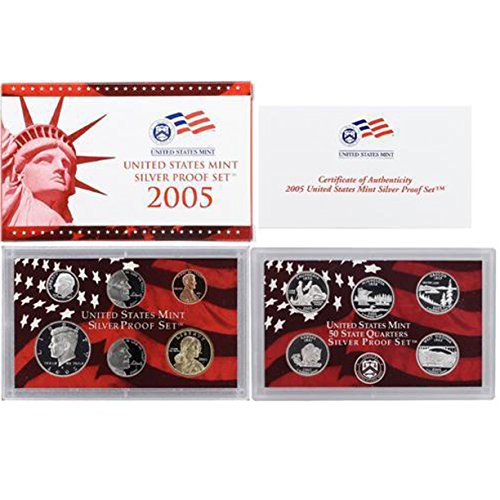 2005 S US Mint Silver Proof Set (Virginia Silver State Quarter)