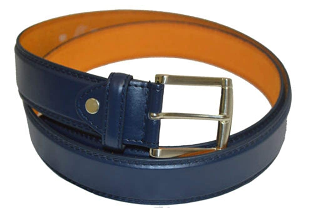 BIG AND TALL BELT JEANS NEW NAVY BLUE LEATHER for MENS SALE !