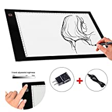 NOPTEG LED Light Pad, A4 Tracing Light Box USB Interface Artcraft Tracing Board for Sketch and Copy