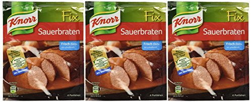 3-pack Knorr Sauerbraten Fix (3x2 Oz) Marinated Beef Sauce (Roast Pot Knorr)