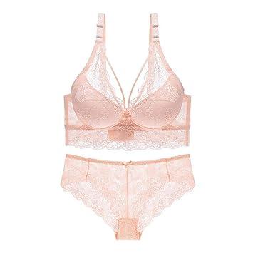 LSS Lencería Sexy para Mujeres, Sujetador De Encaje Sexy Y Panty De Confort (Color : Beige, Tamaño : 80C): Amazon.es: Hogar