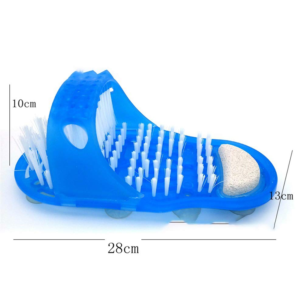 Massage Brush Slipper, Foot Care Supply Creative Exfoliating Remove Dead Skin Promote Blood Circulation Relaxation Pain Relief Foot Scrub Brush Slipper With Anti - slipping Suckers For Bathroom by Xinhuamei (Image #3)