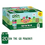 GoGo squeeZ Applesauce on the Go, Variety Pack (Apple Apple/Apple Peach/Apple GIMME 5), 3.2 Ounce (20 Pouches), Gluten Free, Vegan Friendly, Healthy Snacks, Unsweetened, Recloseable, BPA Free Pouches