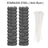 24 Pieces Lint Traps Stainless Steel