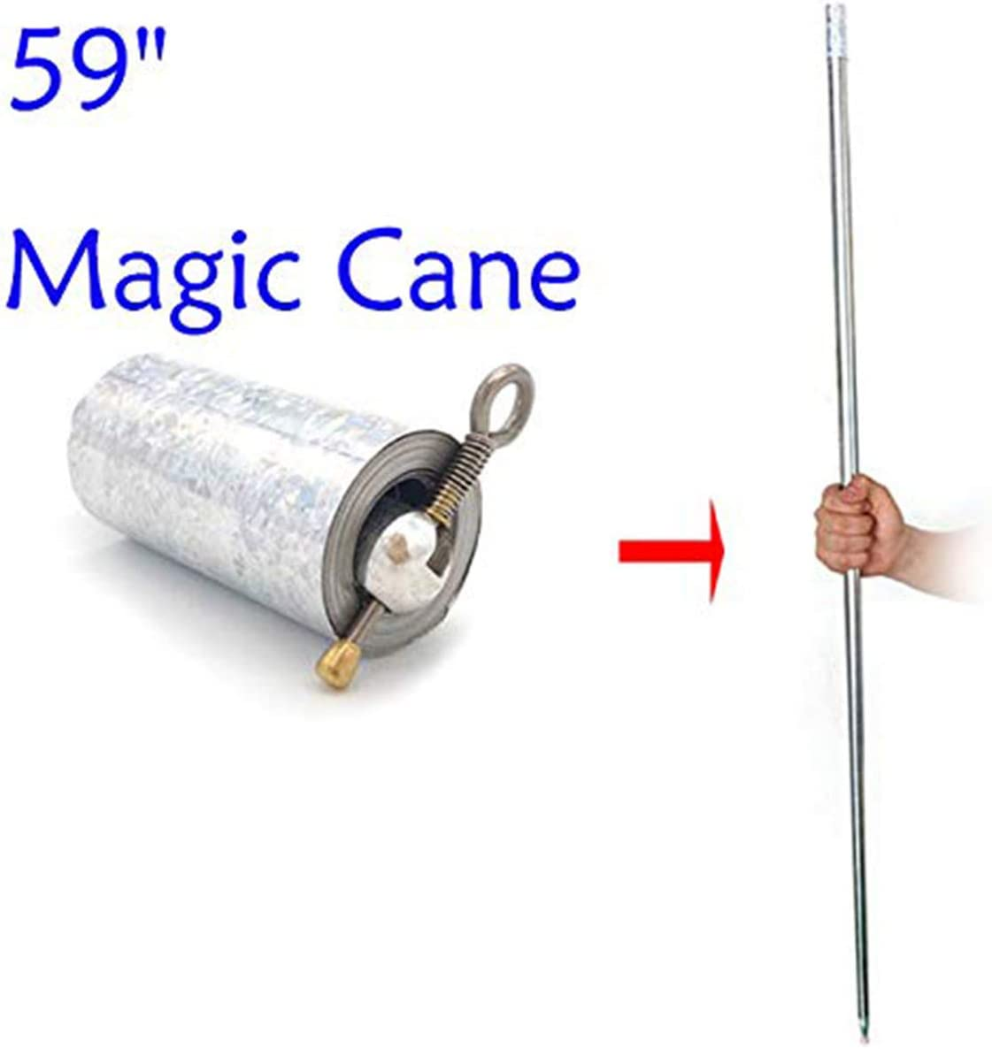 """59"""" Magician Metal Appearing Cane with Free Gloves and Video Tutorial Stage Close-up Magic Tricks"""