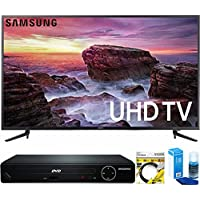 Samsung (UN58MU6100) 58-inch Smart MU6100 Series LED 4K UHD TV With Wi-Fi with HDMI 1080p HD DVD Player + 6ft HDMI Cable + Universal Screen Cleaner for LED TVs