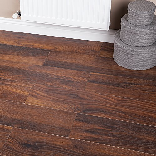 15.57m2 - Heavy Domestic Kitchen Laminate Flooring - Red River Hickory...