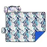 Picnic Blanket Tote Bag, Beach Mat Waterproof with