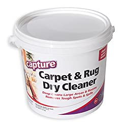 Capture Carpet Dry Cleaner Powder 4 Pound - Resolve Allergens Stain Smell Moisture From Rug Furniture Clothes & Fabric, Mold Pet Stains Odor Smoke & Allergies Too