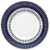 Conjunto com 6 Pratos Fundo Biona colb Branco/Azul
