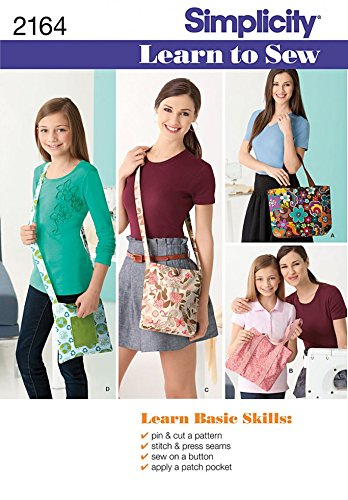 Simplicity Sewing Pattern 2164 Learn To Sew Bags Sizes Os One