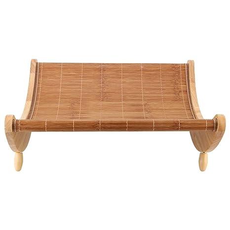 Silla mecedora para gatos, madera de bambú, gatos de verano ...