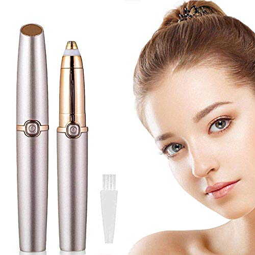- MFSNY Brows Eyebrow Hair Remover Portable Perfect Painless Eyebrow Razor Electric Eyebrow Razor Trimmer Epilator for Women (Battery Not Included)