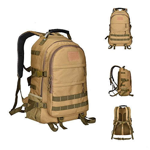dushow groß Tactical Rucksack Sport Outdoor Military Rucksack Wandern Camping Rucksack/Rucksack Gepäck Tasche khaki BjYxkyNWw