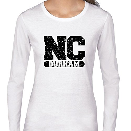Durham, North Carolina NC Classic City State Sign Women's Long Sleeve T-Shirt -