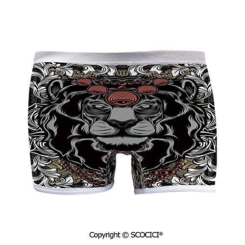 SCOCICI Printed Boyshort Panties Forest Jungle Emperor Safari Comfort Quick Dry