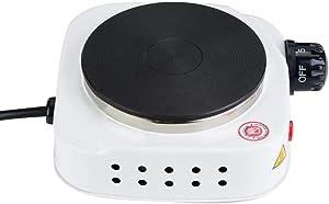 Electric Mini Stove Single Electric Flat Cast Iron Heating Plate Burner 500W Mini Stove Hot Plate Multifunctional Home Heater (US)