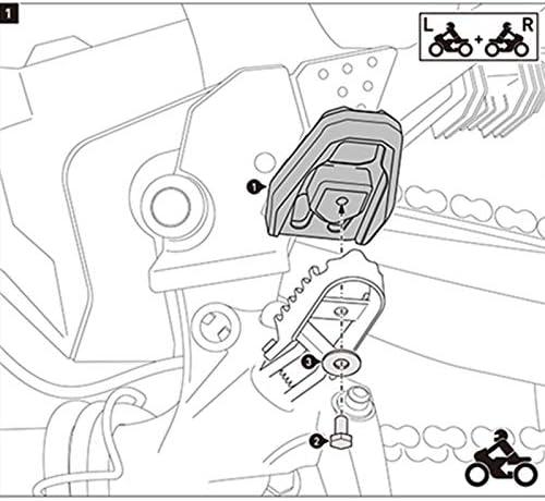 Plata Naliovker Estriberas Apoyo Pedales Clavijas De Pie Ancho MX Billete De Motocicleta para Crf1000L Africa Twin Adventure Sports 2014-2017