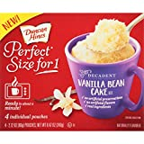 microwave cake mug - Duncan Hines Perfect Size for 1 Mug Cake Mix, Ready in About a Minute, Vanilla Bean Cake, 4 individual pouches