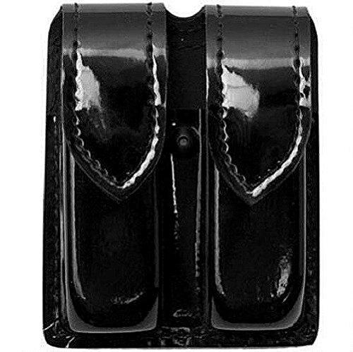 Safariland 77 Double Magazine - Safariland 77 Double Handgun Magazine Holder for Duty Use, Black, High Gloss