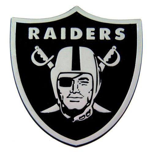 (Oakland Raiders Heavy-Duty Metal Auto Emblem)