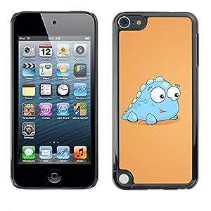 PC/Aluminum Funda Carcasa protectora para Apple iPod Touch 5 Little Dinosaur Light Blue Creature Cartoon Art / JUSTGO PHONE PROTECTOR