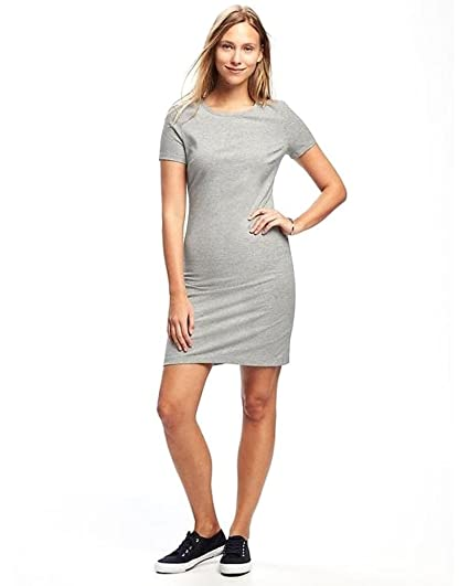 90bc1a37c0a Fitted Crew-Neck Tee Dress for Teens   Women! at Amazon Women s Clothing  store