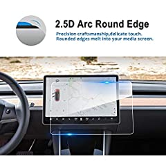 Tesla Model 3 P50,P65,P80,P80D 15-Inch Infotainment Display Touch Glass Screen Protector -All around protection for your beloved car navigation!NOTE :  Before placing order, Please pay attention to your screen size is compatible with our item...