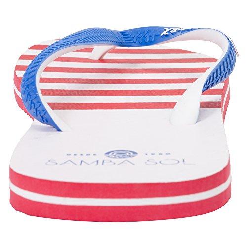 Samba Sol Heren Vlag Collectie Flip Flops - Modieus En Comfortabel. Trendy En Klassieke Sandalen Voor Heren. Usa 2
