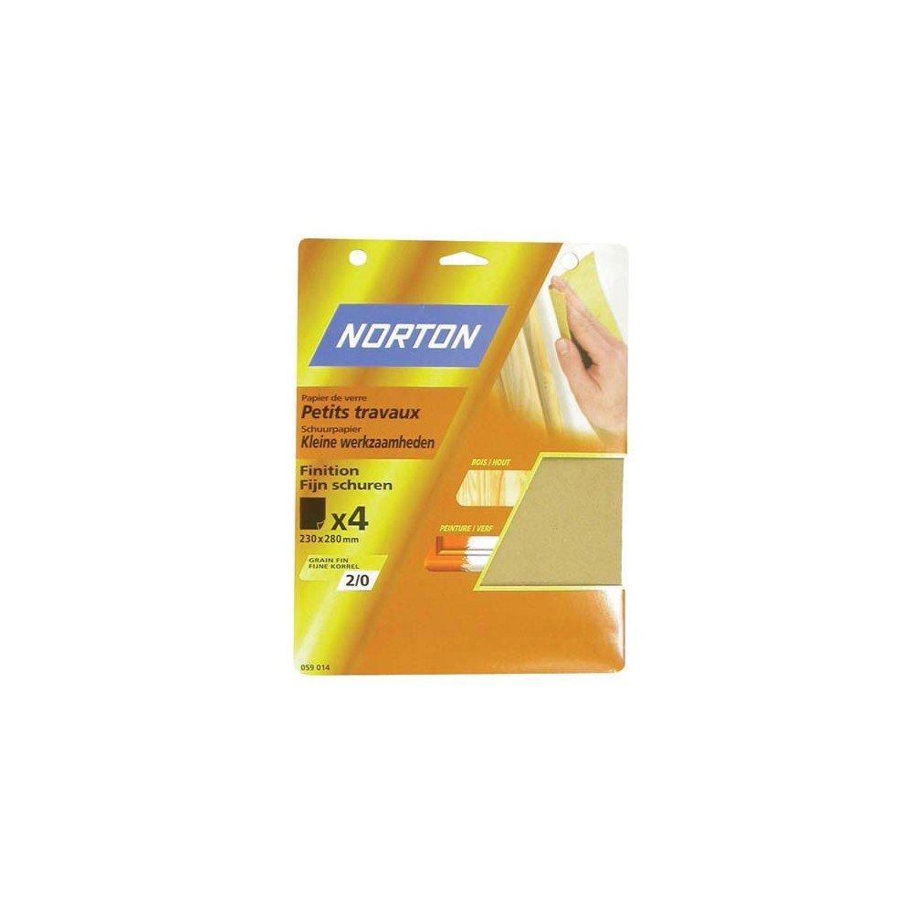 Norton Silex 23x28 Grain 00 Fin x4 SC Papier de Verre et Abrasifs, Neutre NORTON ST GOBAIN ABRASIF GP 63642516116