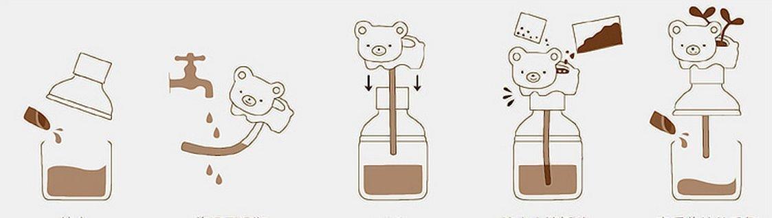 Vida Happy Pet Mini Plantas lindas botellas maceta absorber el agua por la cola Bonsai / hierba de la muñeca Flores / buen regalo: Amazon.es: Bricolaje y ...