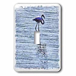 3dRose Taiche - Watercolor Painting - Flamingos - Stand Tall - Light Switch Covers - single toggle switch (lsp_275685_1)