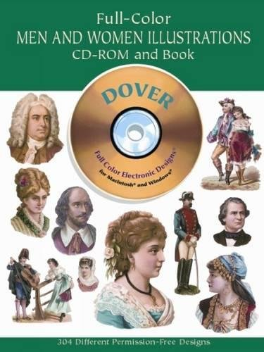 [Full-Color Men and Women Illustrations CD-ROM and Book (Dover Pictorial Archives)] (Costume Design Online Classes)