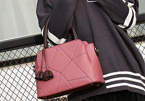 Dame Fashion la Cinq de Sac bandoulière paste Couleurs Work Shopping SHOUTIBAO Messager Sac red bean à Sac à Main de Unique XnIOwqaxp4
