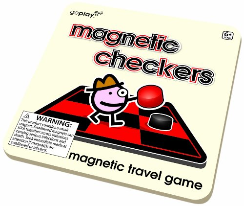 Toysmith 8162 Magnetic Checkers