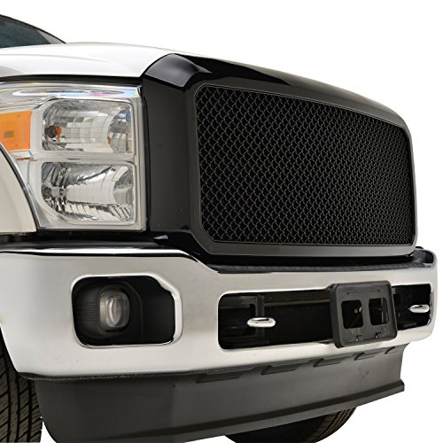 E-Autogrilles Black ABS Super Duty Grille Grill with Shell for 11-16 Ford F250/F350 Super Duty